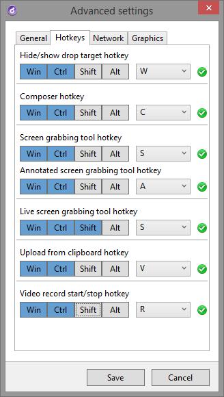 Hot Keys in Droplr For Windows