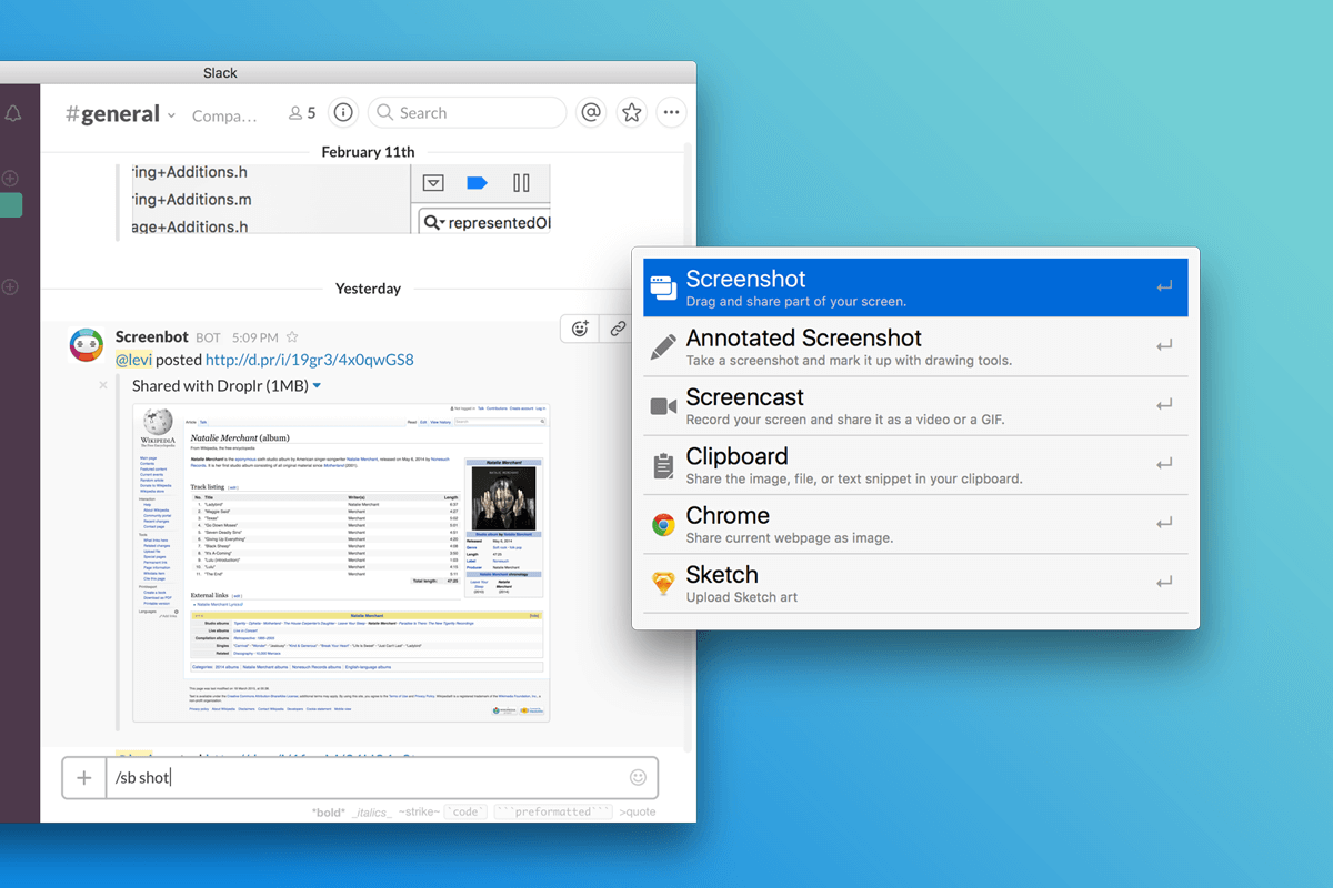 Droplr launches new service Screenbot on Slack