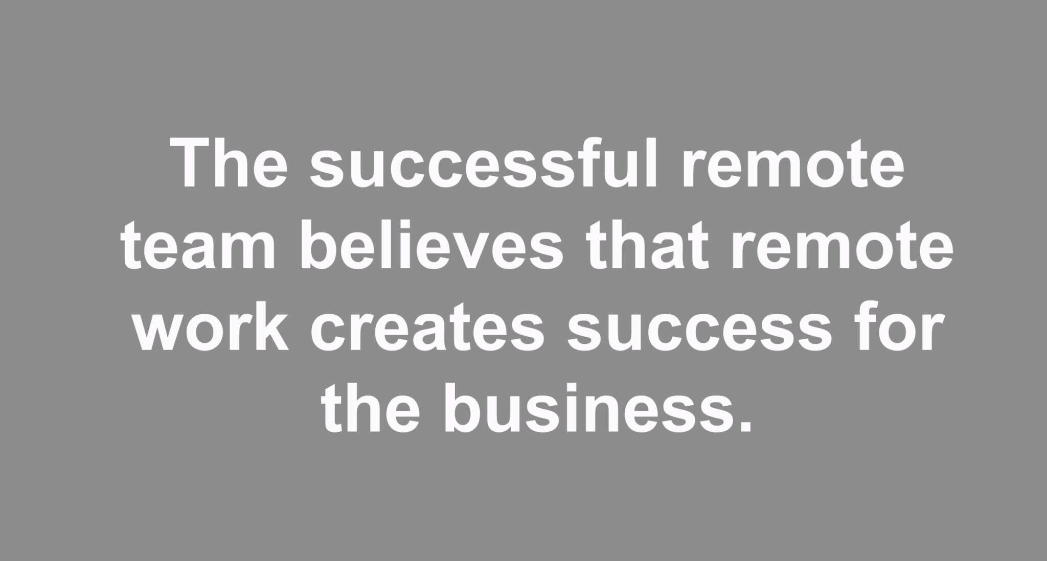 Secrets of a Successful Remote Team
