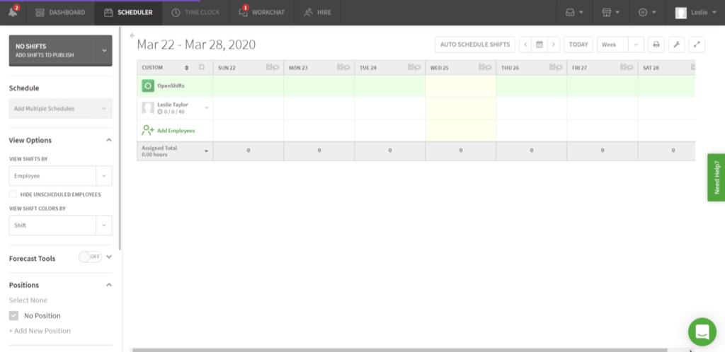 when I work calendar from mar 22- mar 28, 2020
