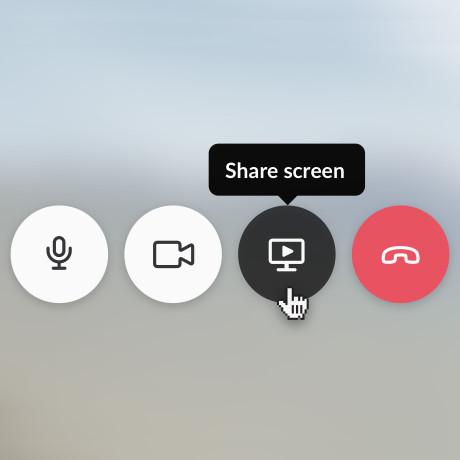 share screen on slack