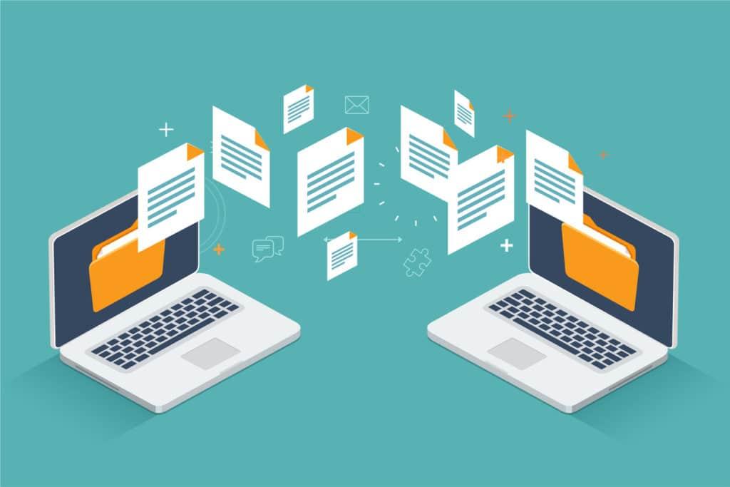 sharing files between 2 laptops