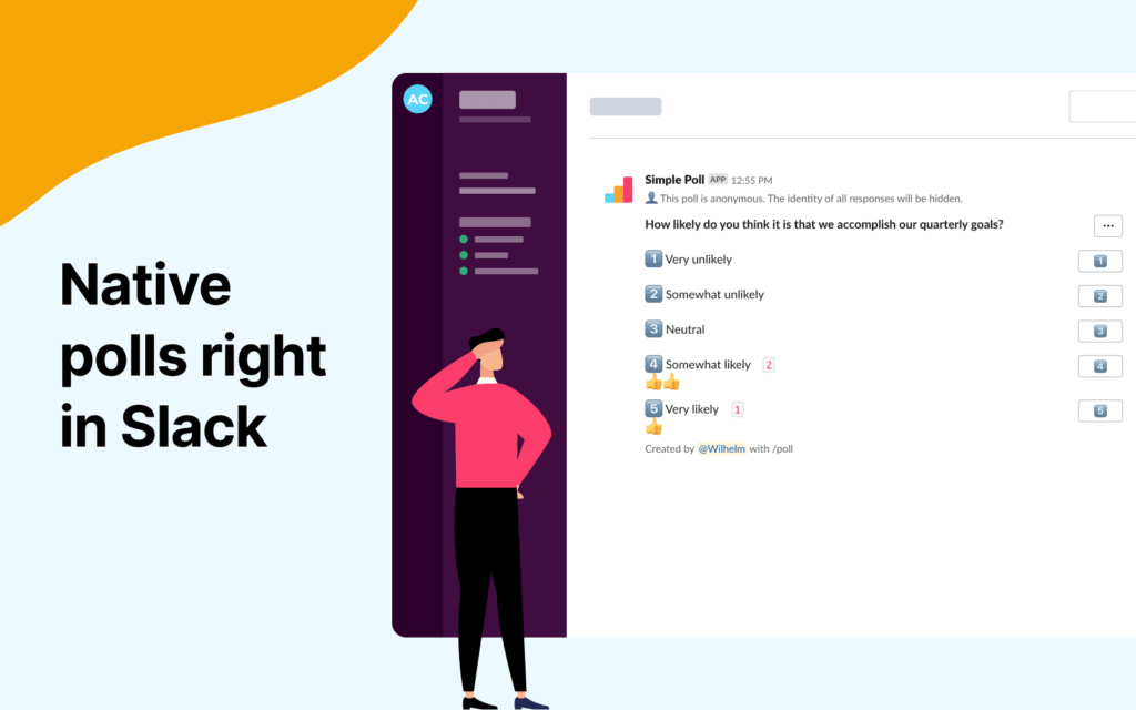 native polls right in slack with simple poll