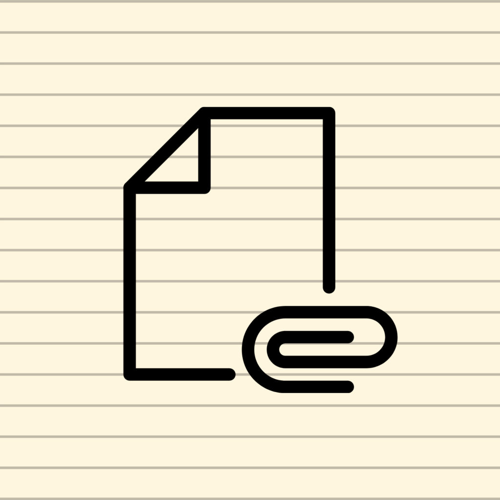 file icon on a note card