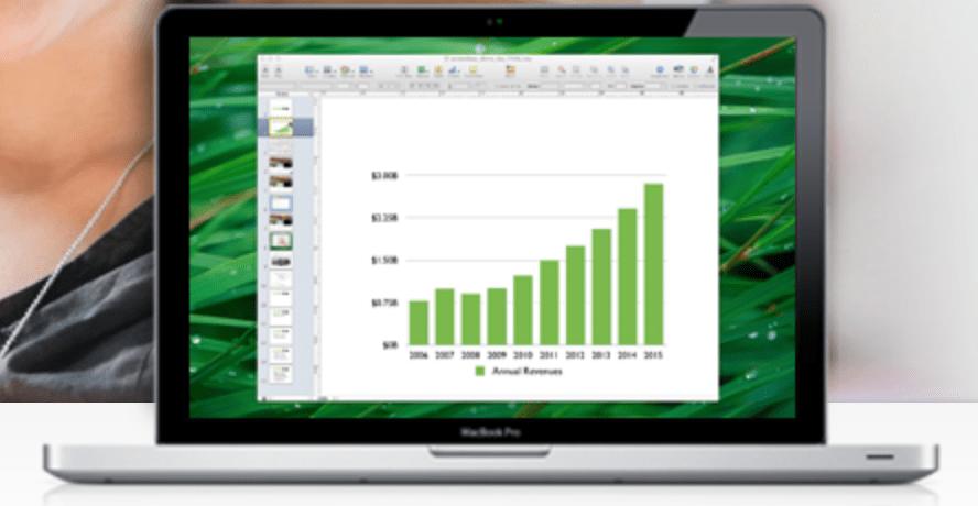 screenleap graph on a computer