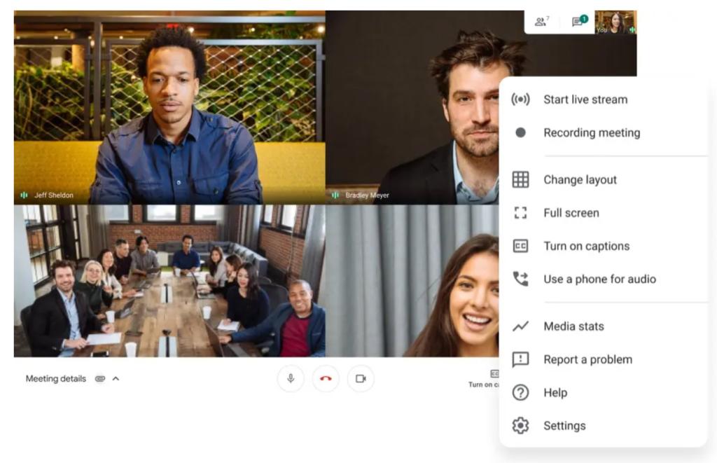 google meet meeting details