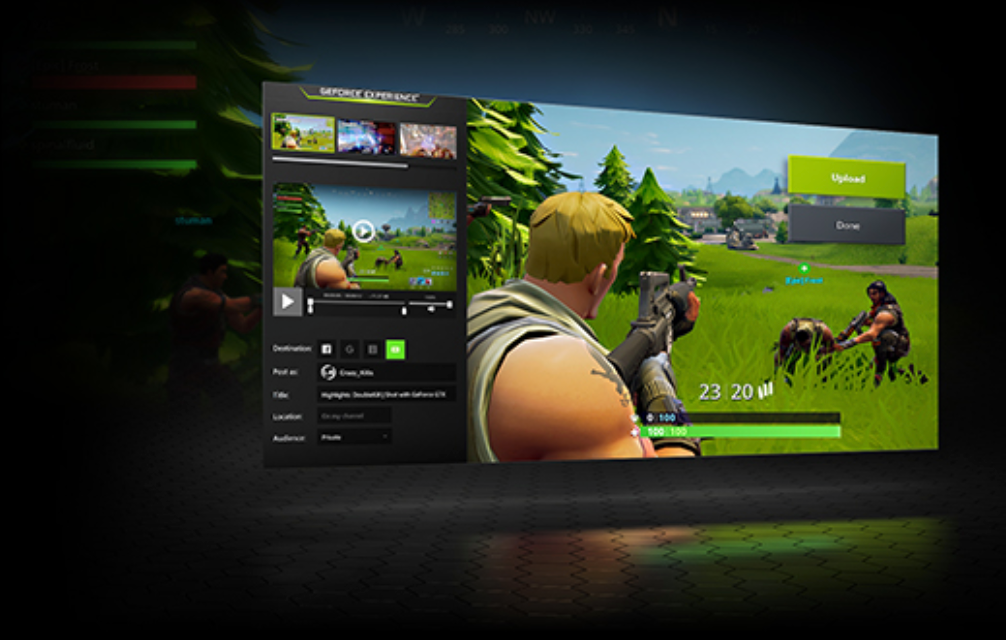computer screen showing a video game clip capture by geforce experience