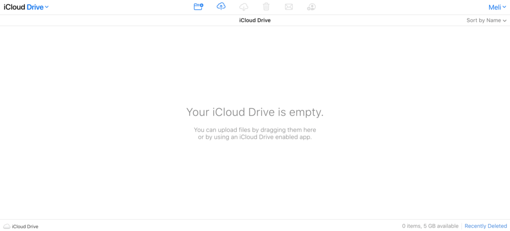 your icloud drive is empty