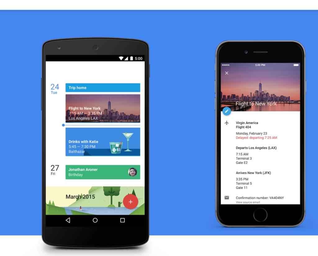 google calendar app display on mobile
